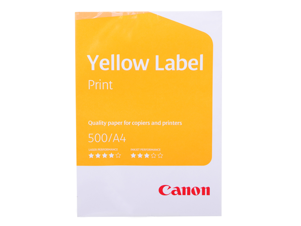 Бумага Canon Yellow Label Print (Standart Label) A4/80г/м2/500л. бумага a4 xerox perfect print plus 80г м 500л