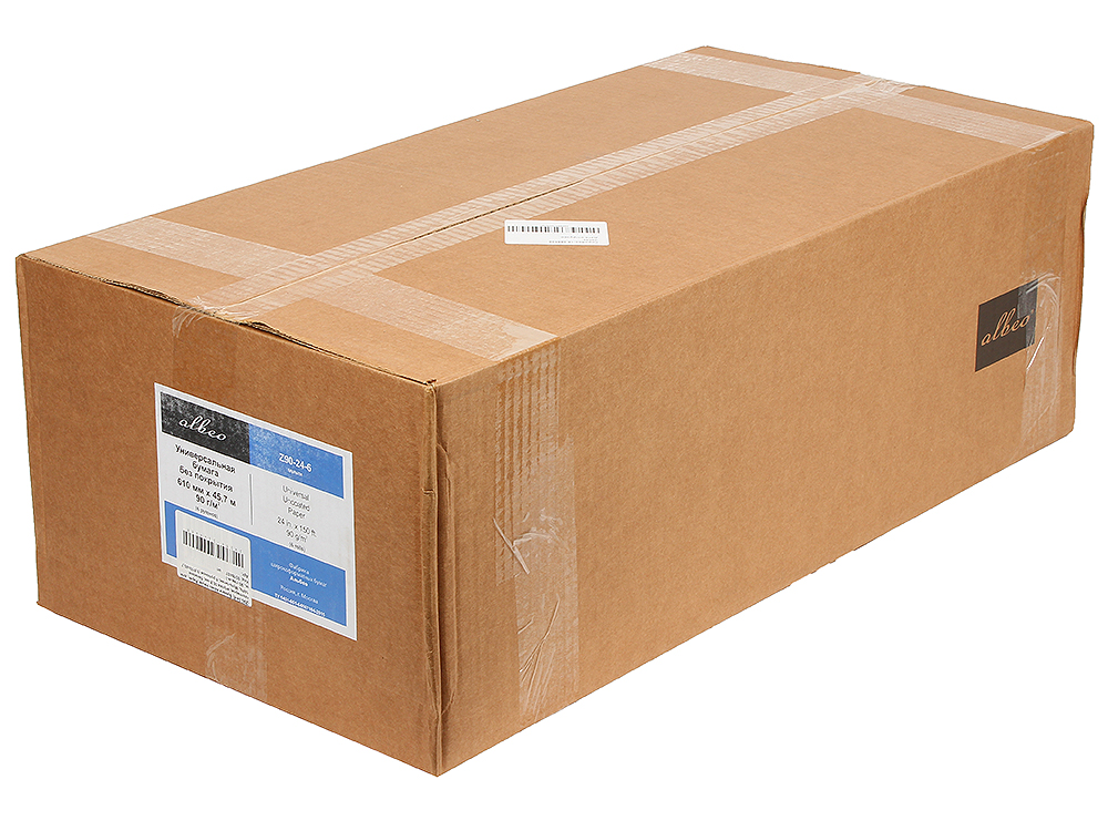 (Z90-24-6) Бумага Albeo InkJet Paper, для плоттеров, втулка 50,8 мм, белизна 146%, Мультипак, 6 рулонов (0,610х45,7 м., 90 г/кв.м.)