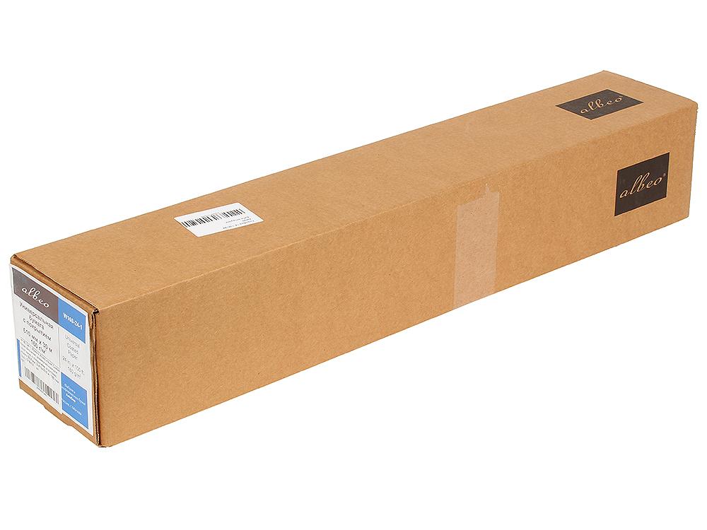 (W160-24-1) Бумага Albeo InkJet Coated Paper-Universal, универсальная для плоттеров, с покрытием, в рулонах, втулка 50,8 мм, (0,610х30,5 м., 160 г/кв. w90 36 30 бумага albeo inkjet coated paper universal универсальная для плоттеров с покрытием в рулонах втулка 50 8 мм 0 914х30 м 90 г кв м