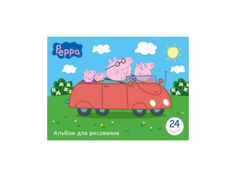 Альбом для рисования 24 листа А4 «Свинка Пеппа» 25491