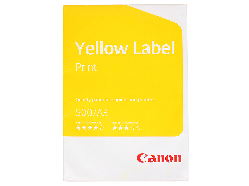 Бумага Canon Yellow Label Print (Standart Label) A3/80г/м2/500л. label sticker receipt printer barcode qr code small ticket bill pos printer support 20 80mm width print speed very fast