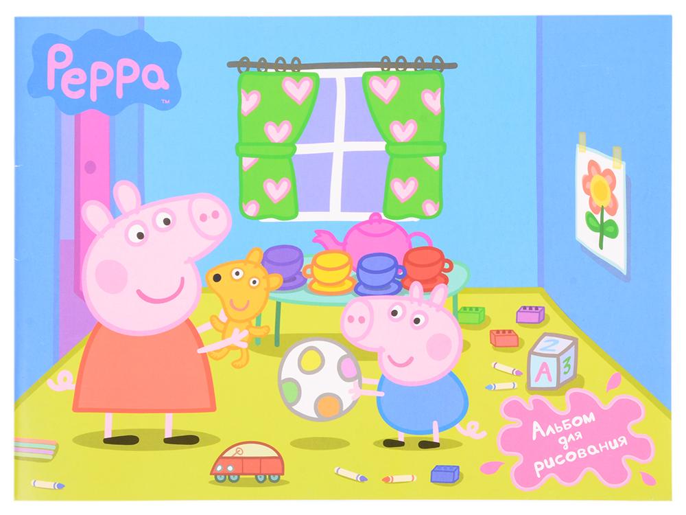 Альбом для рисования 24 листа «Свинка Пеппа» Веселая свинка 22258