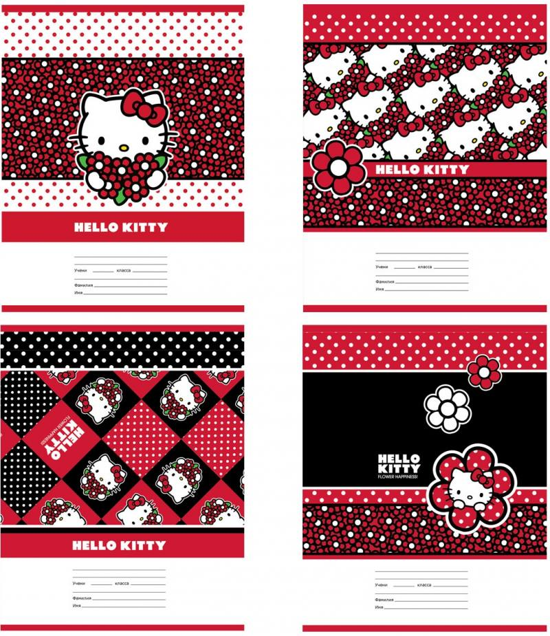 Тетрадь школьная Action! Hello Kitty 24 листа клетка скрепка HKO-AN-2401/5 в ассортименте HKO-AN-240 тетрадь общая action hello kitty hko an 4801 5 3 48 листов клетка скрепка