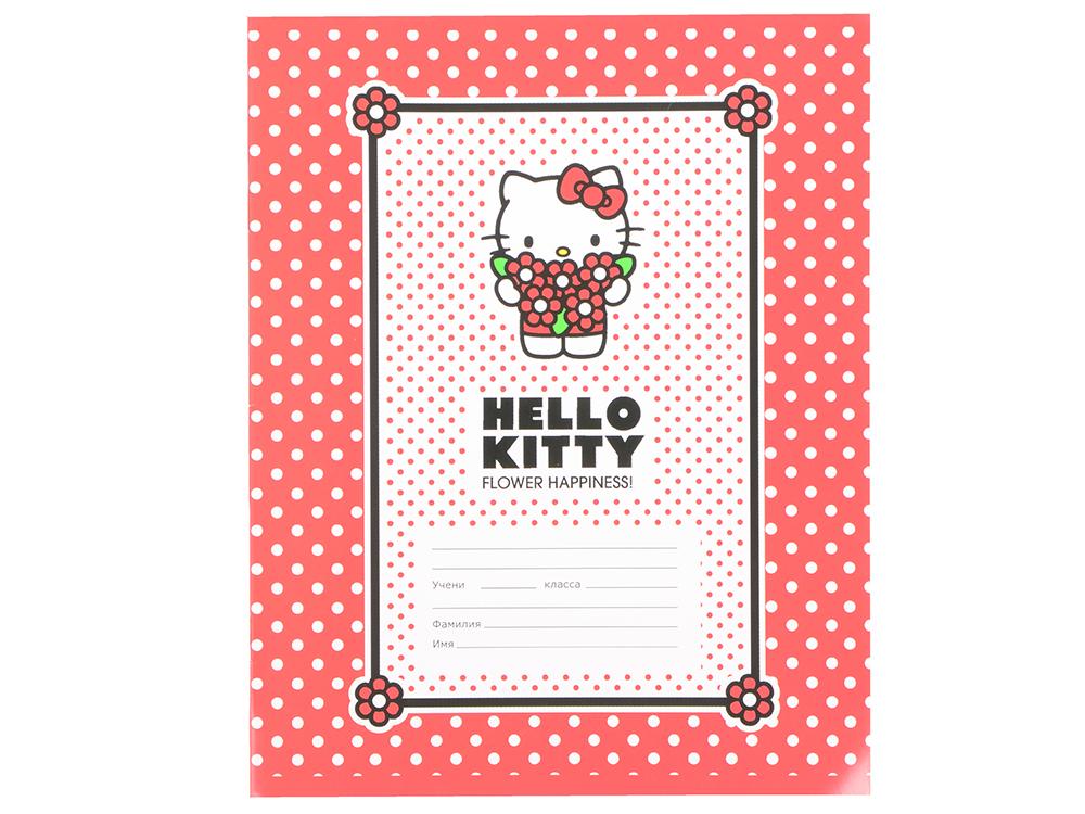 Тетрадь школьная Action! Hello Kitty 18 листов клетка скрепка HKO-AN-1801/5 в ассортименте HKO-AN-18 тетрадь школьная action animal planet 48 листов клетка скрепка ap an 4804 5 в ассортименте ap an 4804 5