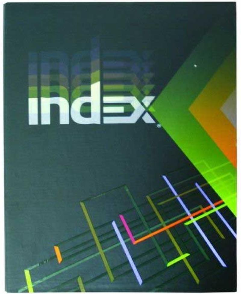 Тетрадь офисная Index IN 16002/5 160 листов клетка кольца кольца