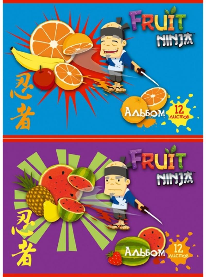 Альбом для рисования Action! Fruit Ninja A4 12 листов FN-AA-12 в ассортименте FN-AA-12 дневник для старших классов action fruit ninja линейка fn du 1 fn du 1