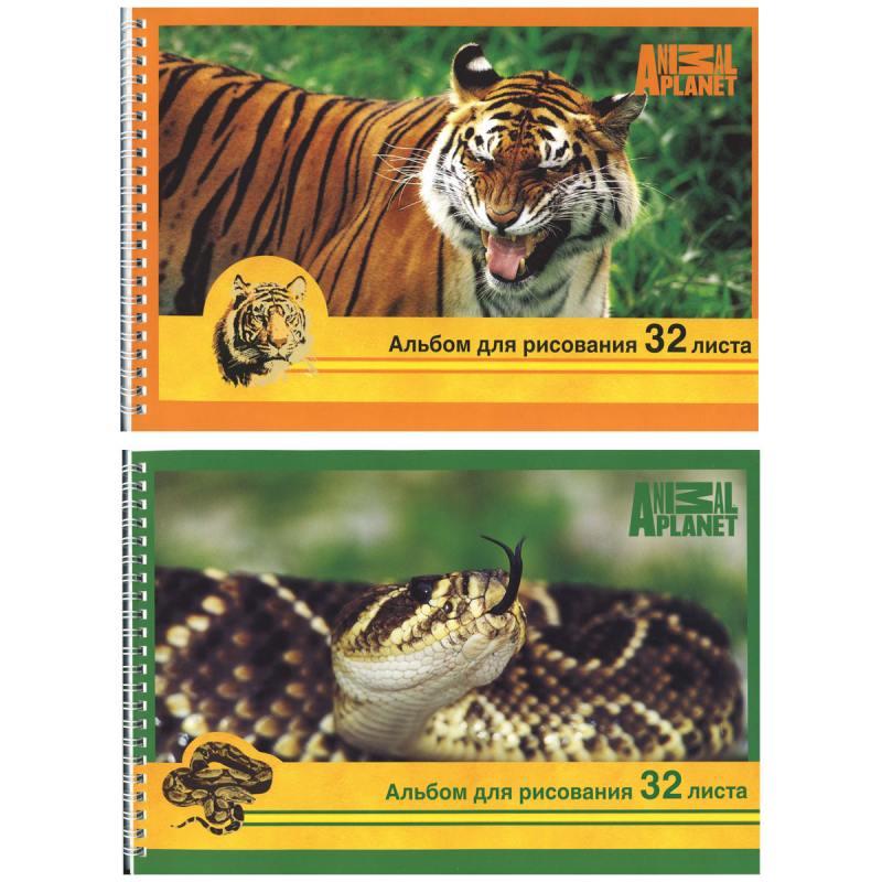 Альбом для рисования Action! ANIMAL PLANET A4 32 листа AP-AAS-32/1 в ассортименте AP-AAS-32/1 ластик action animal planet 1 шт круглый ap aer115 в ассортименте ap aer115