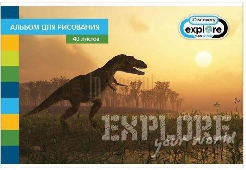 Альбом для рисования Action! DISCOVERY A4 40 листов DV-AA-40S DV-AA-40S альбом для рисования action animal planet на гребне 40 листов в ассортименте