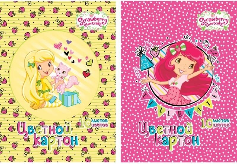 Набор цветного картона Action! STRAWBERRY SHORTCAKE A4 10 листов SW-CC-10/10 в ассортименте action набор цветной бумаги strawberry shortcake 10 листов 2 шт