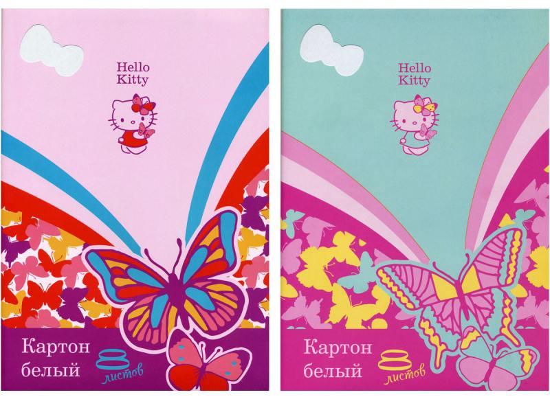 Набор белого картона Action! HELLO KITTY A4 8 листов HKO-AWP-8/8 в ассортименте набор цветного картона action strawberry shortcake a4 10 листов sw cc 10 10 в ассортименте
