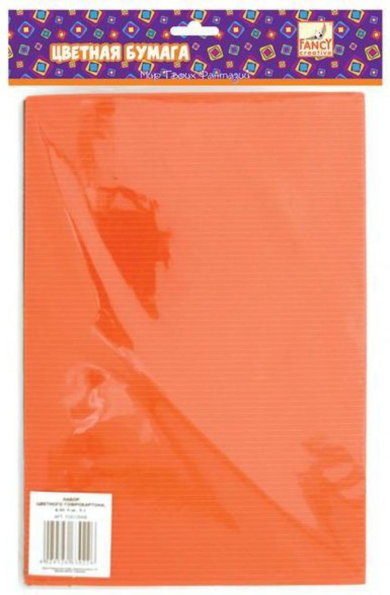 Набор цветного картона Fancy Creative FD010006 A4 8 листов гофрированный ozuko multi functional men backpack waterproof usb charge computer backpacks 15inch laptop bag creative student school bags 2018