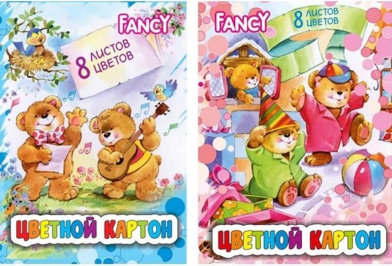 Набор цветного картона Action! Fancy A4 8 листов FCC-8/8 в ассортименте набор цветного картона action acc 8 8e 3 a4 8 листов