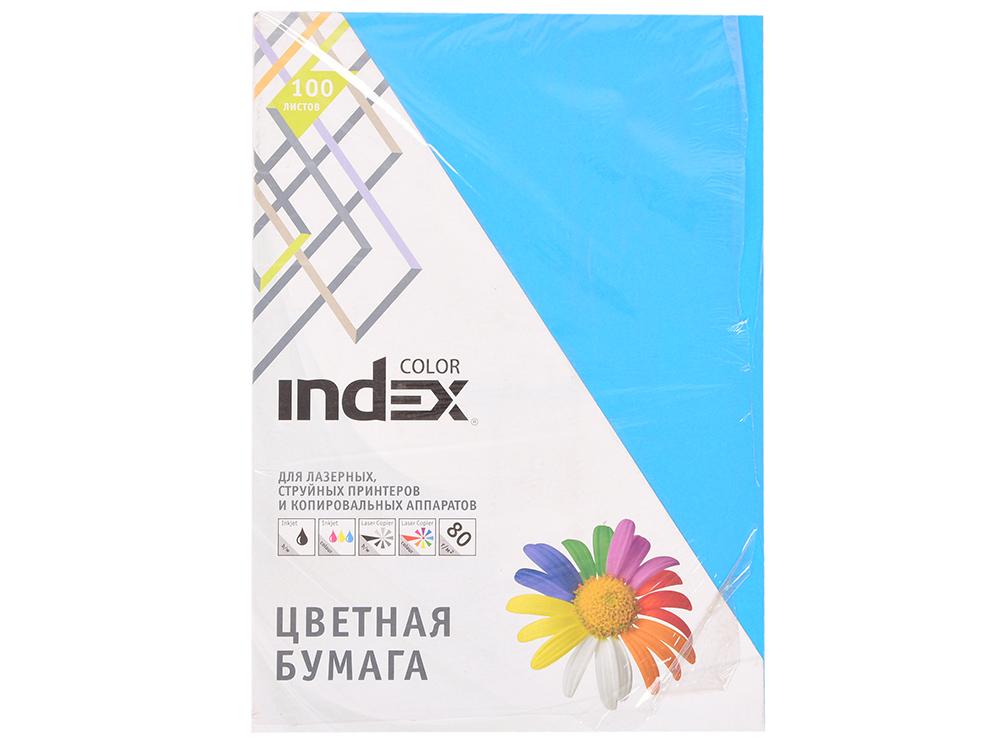 Бумага цветная Index Color, 100 листов, А4, ярко-синий IC78/100 100% new original projector color wheel for optoma hd83 wheel color