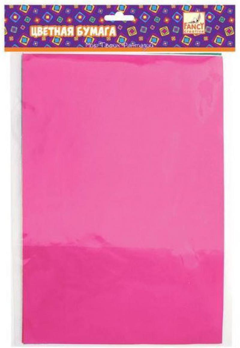 Цветная бумага Fancy Creative FD010014 A4 6 листов фольгированная канцелярия fancy creative набор самоклеющейся цветной голографической бумаги a4 6 цв 6 л