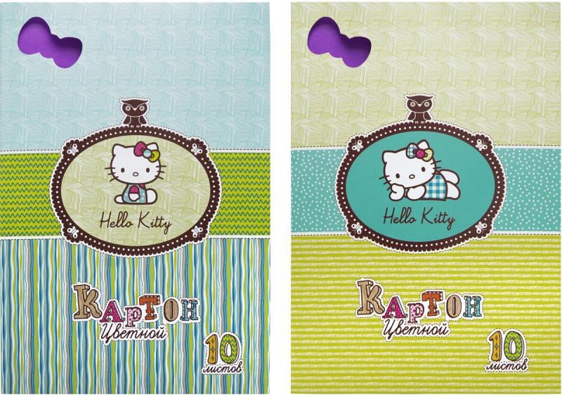 Набор цветного картона Action! HELLO KITTY A4 10 листов HKO-ACC-10/10-2 в ассортименте action набор цветного картона strawberry shortcake 8 листов 2 шт