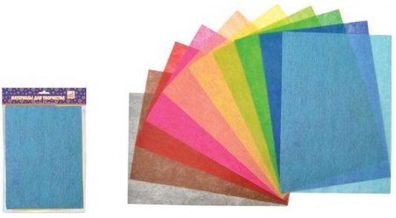 Набор нетканого материала Fancy Creative FD010032 A4 10 листов канцелярия fancy creative набор самоклеющейся цветной голографической бумаги a4 6 цв 6 л