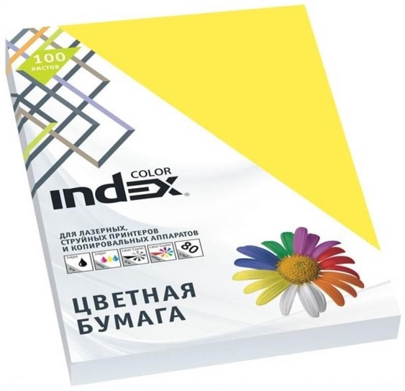 Цветная бумага Index Color IC57/100 A4 100 листов hgh20ca 100