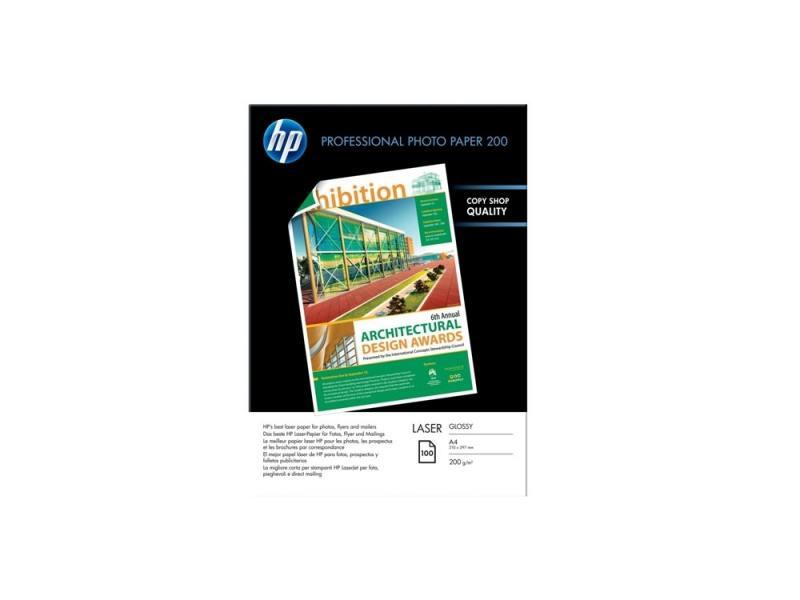 Фотобумага HP A4 210x297мм 200г/м2 двухсторонняя для лазерной печати 100 листов глянцевая CG966A пленка lomond 2800003 210x297мм a4 самоклеющаяся глянцевая для лазерной печати упак 25л