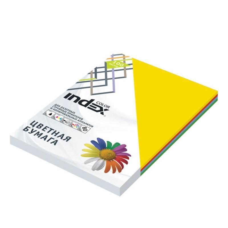 Цветная бумага Index Color A4 100 листов ICmixmedium/4x25/100 цветная бумага index color a4 100 листов icmixmedium 4x25 100