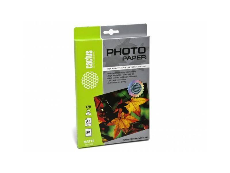 Бумага Cactus CS-MA517050 А5 170г/кв.м матовая 50л