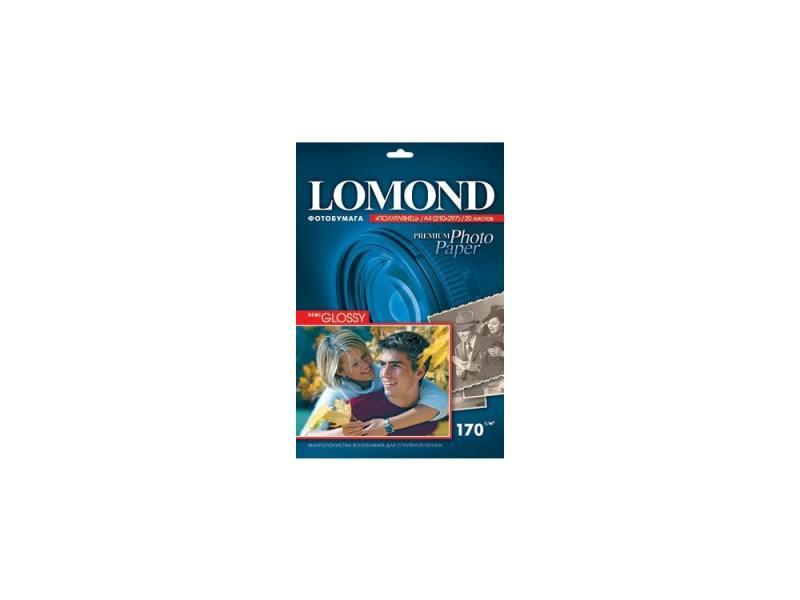 Бумага Lomond A4 170г/кв.м Semi Glossy Paper [1101305/1101301] 20л бумага lomond a4 150г кв м glossy paper [0102043] 25л