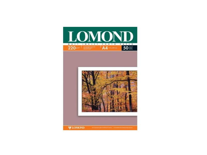 Фотобумага Lomond А4 220г/м2 матовая 50л 102144