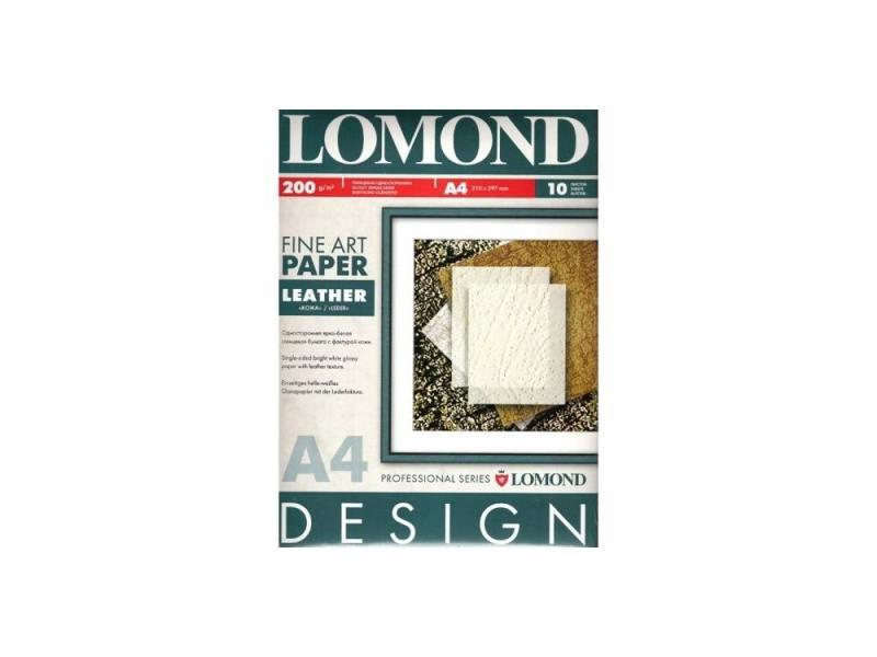 Фотобумага Lomond A4 200г/м2 10л Ткань глянцевая 920041 фотобумага lomond 926041 a4 200г м2 глянцевая 10 листов дизайнерская ящерица