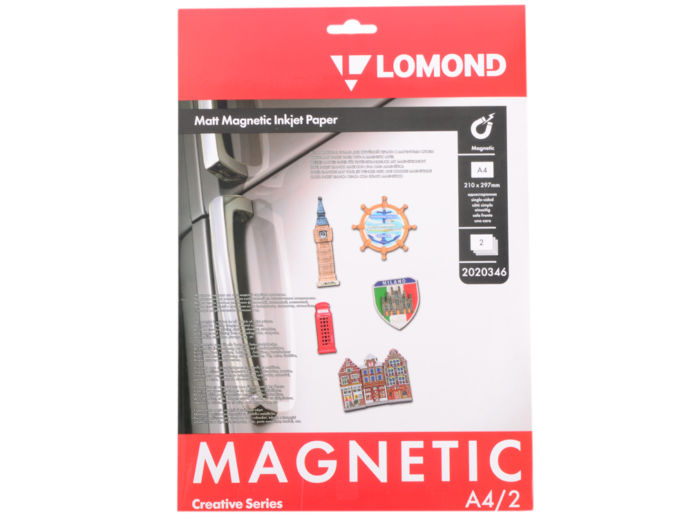 Фотобумага Lomond A4 620г/м2 матовая с магнитным слоем 2л 2020346