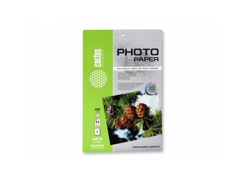 Фотобумага Cactus CS-MMA46902 А4 690г/м2 2л с магнитным слоем матовая
