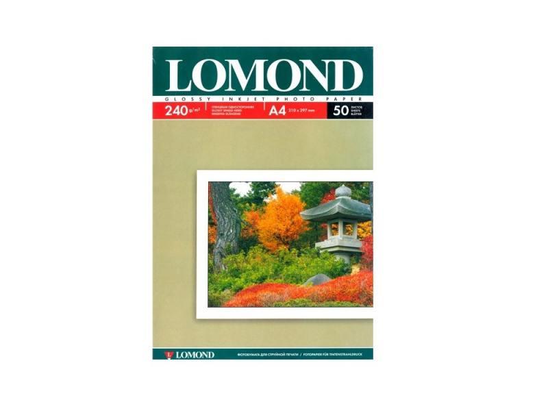Фотобумага Lomond А4 240г/м2 глянцевая 50л 102135 фотобумага lomond а4 140г м2 глянцевая 25 листов 0102076