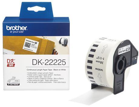 Этикетка Brother DK-22225 38ммх30.48м лента для печатающего устройства kgofficeservice dk11202 dk 11202 62 100 300pcs ql 1060 lable for dk11202 lables