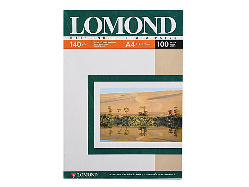 Фотобумага Lomond A4 140г/кв.м односторонняя матовая 100л 0102074