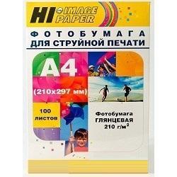 Бумага Hi-Black A200402U A4 210г/м2 глянцевая односторонняя 100л бумага hi black a200102u a4 230г м2 глянцевая односторонняя 100л h230 a4 100