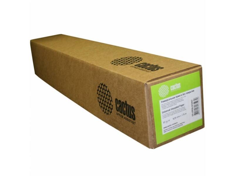 Бумага инженерная Cactus CS-LFP80-840175 А0 841мм х 175м 80г/м2 без покрытия