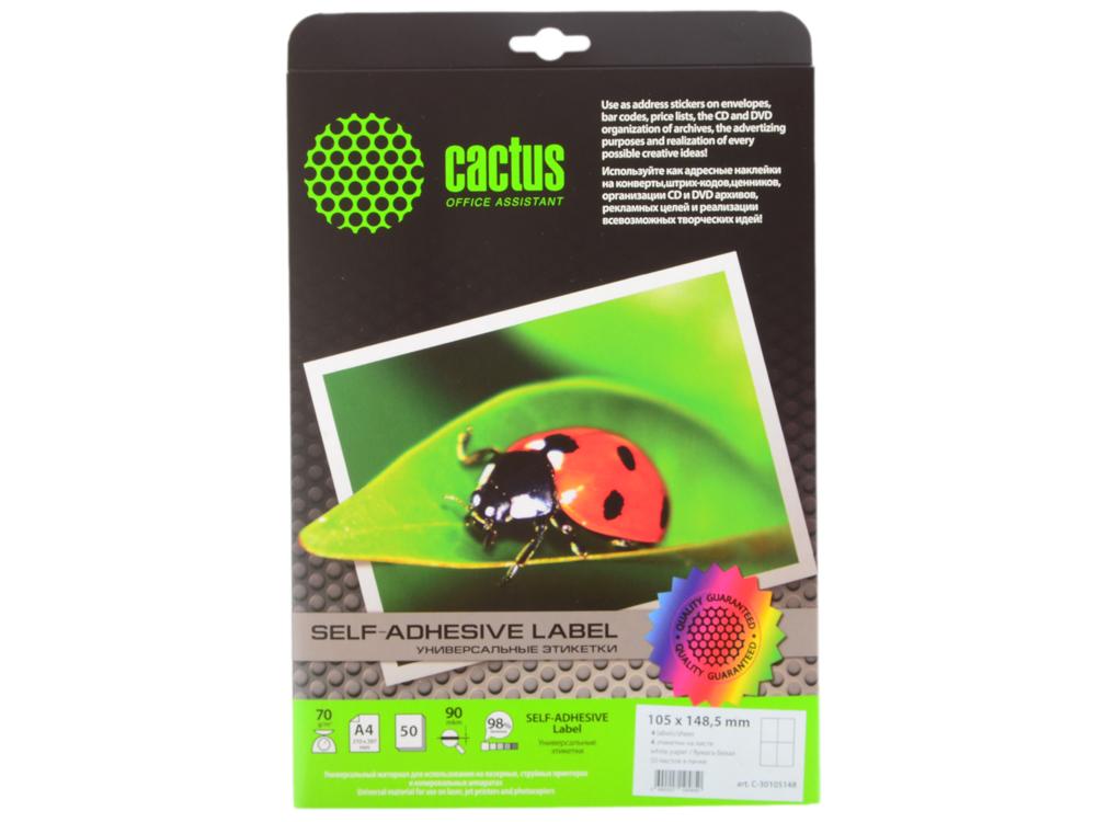 Этикетки Cactus А4 105x148.5мм 50 листов белый С-30105148