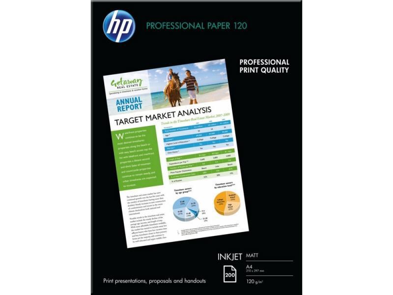 Фотобумага HP А4 120г/м2 200л матовая Q6593A