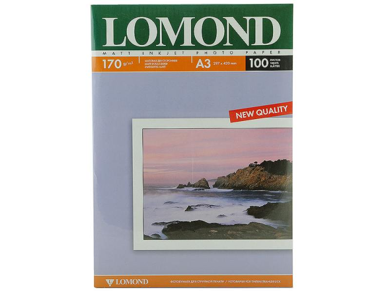 Фотобумага Lomond A3 170г/кв.м матовая двухсторонняя 100л 0102012