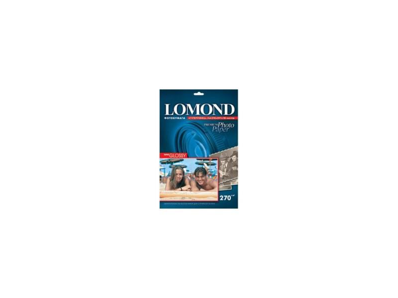 Бумага Lomond A4 270г/кв.м Super Glossy [1106100] 20л бумага цв а4 20л 10цв хобби тайм 2 вида