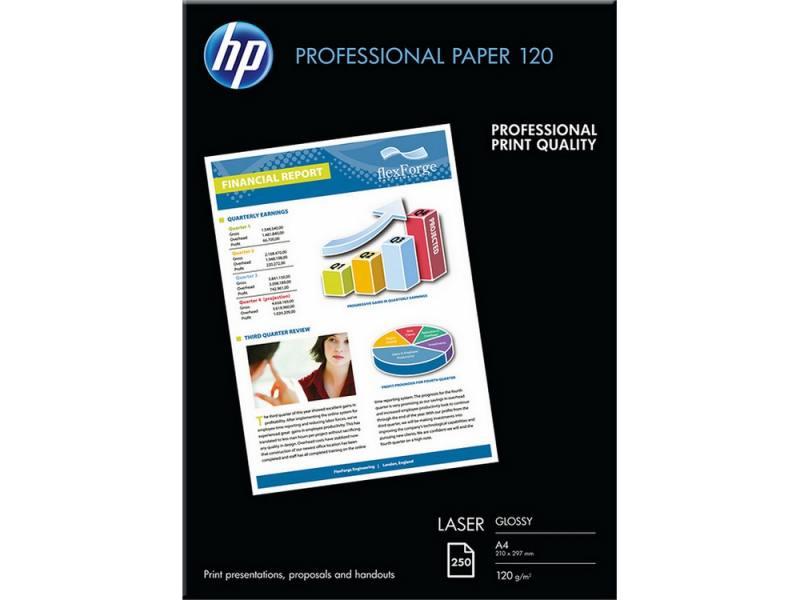 Фотобумага HP A4 210x297мм 120г/м2 двухсторонняя для лазерной печати глянцевая CG964A пленка lomond 2800003 210x297мм a4 самоклеющаяся глянцевая для лазерной печати упак 25л