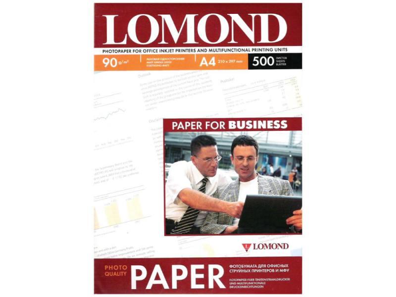 Бумага Lomond A4 90г/м2 500л матовая для струйной печати 0102131