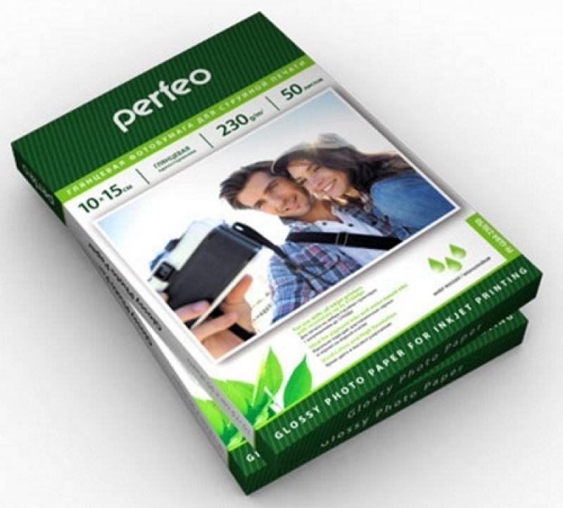 Бумага Perfeo 10х15 230г/м2 глянцевая 50л PF-GLR4-230/50