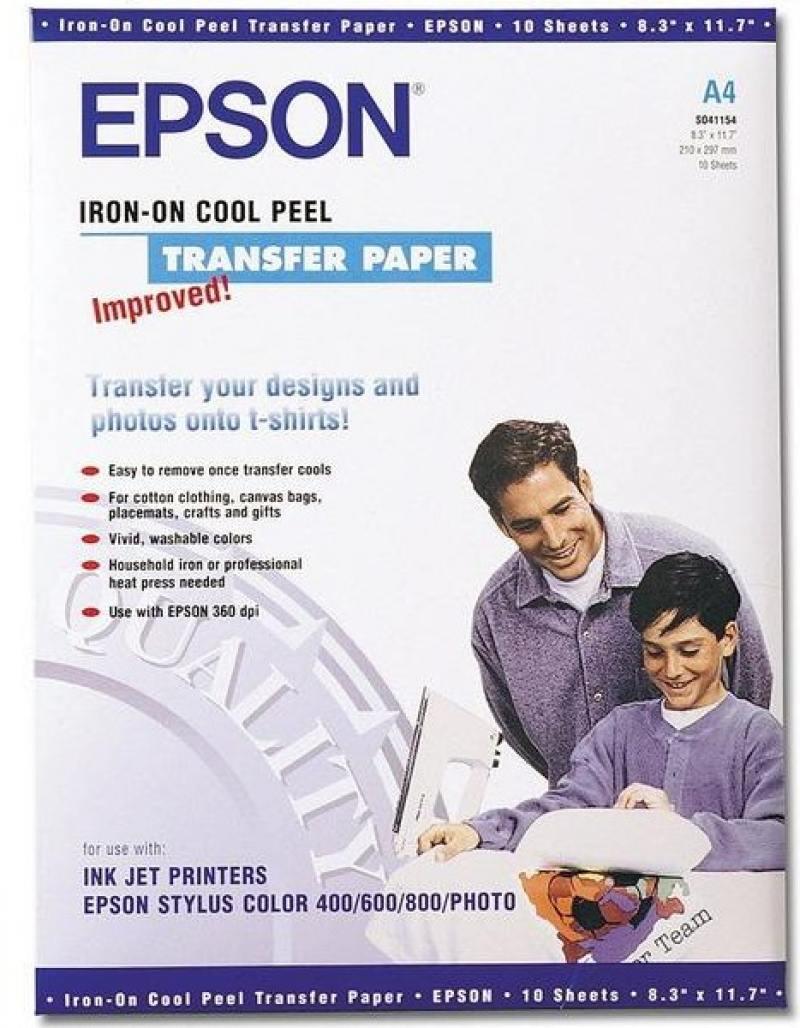 Фотобумага Epson A4 124г/м2 термопереводная 10л C13S041154