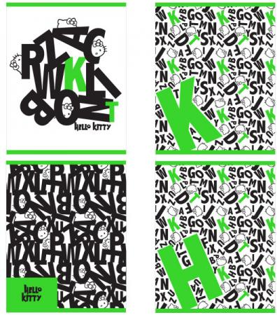 Тетрадь общая Action! HELLO KITTY, мелов. картон, уф-лак, клетка, ф. А5, 48 л., 4 дизайна HKO-AN-48 цена и фото