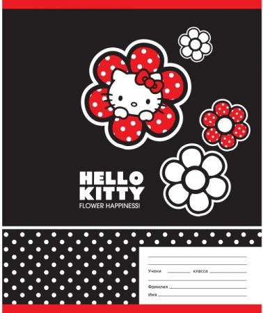 Тетрадь школьная Action! HELLO KITTY, мелованный картон, линейка, ф. А5, 18 л., 4 дизайна HKO-AN-180