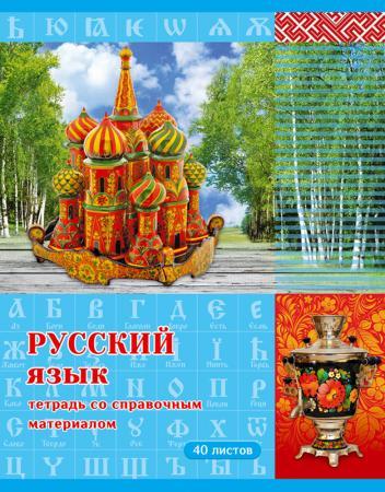 Тетрадь ученическая Би Джи Страна знаний. Русский язык 40 листов линейка скрепка Т5ск40 3073