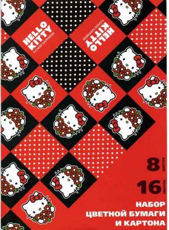Набор цветной бумаги и картона на склейке ACTION!HELLO KITTY, ф.А4,16 л, 8 цв.(8л.-карт,8л.-бум),2 д хозторг набор кастрюль 6пр с кр 2 2 8 3 8л