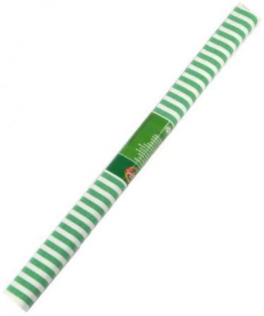 Креп-бумага Koh-I-Noor, бело-зеленая полоска, 2000х500 мм