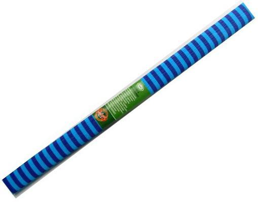 Креп-бумага Koh-I-Noor, фиолетово-голубая полоска, 2000х500 мм