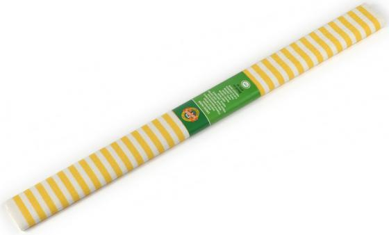 Креп-бумага Koh-I-Noor, желто-белая полоска, 2000х500 мм