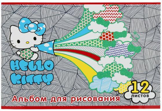 Альбом для рисования Action! HELLO KITTY, уф-лак, блёстки, 12 л., 2 дизайна HKO-AA-12-4